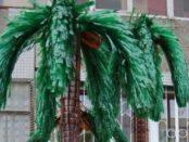 Пластиковая пальма из бутылок, как делается