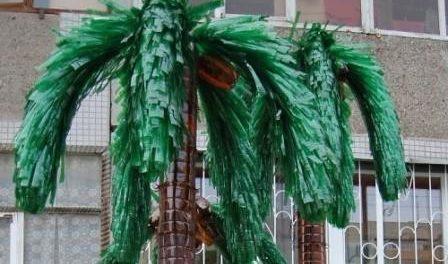 Пальма из пластиковых бутылок своими руками пошагово для начинающих