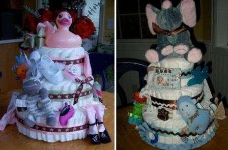 Для того чтобы сымитировать настоящий торт, возьмите цветные ленты и обверните ими торт.