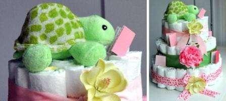 Маленький торт из памперсов своими руками фото 581