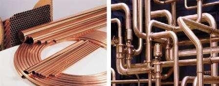 Медный вид труб, считается самым лучшим и дорогим. Трубы не подвержены разрушению от света, коррозии,