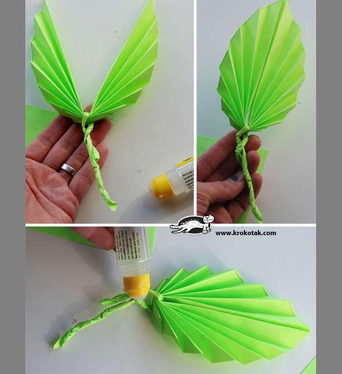 Как сделать листочки из бумаги для цветов