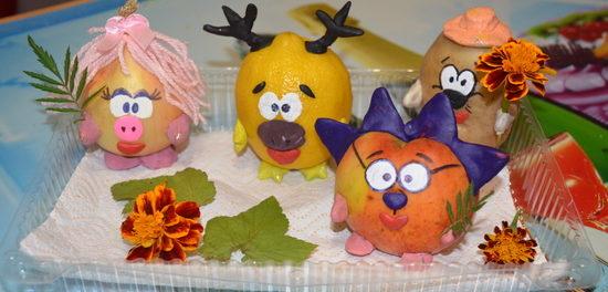 Сделать поделку из овощей своими руками в детский сад фото фото 706
