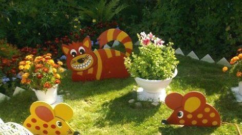 Поделки для сада из фанеры своими руками