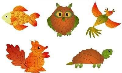 поделки из листьев осенних