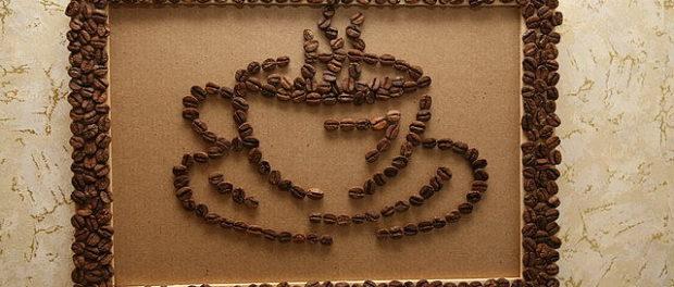 Поделки из кофейных зерен пошагово