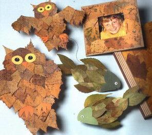 осенние листья поделки