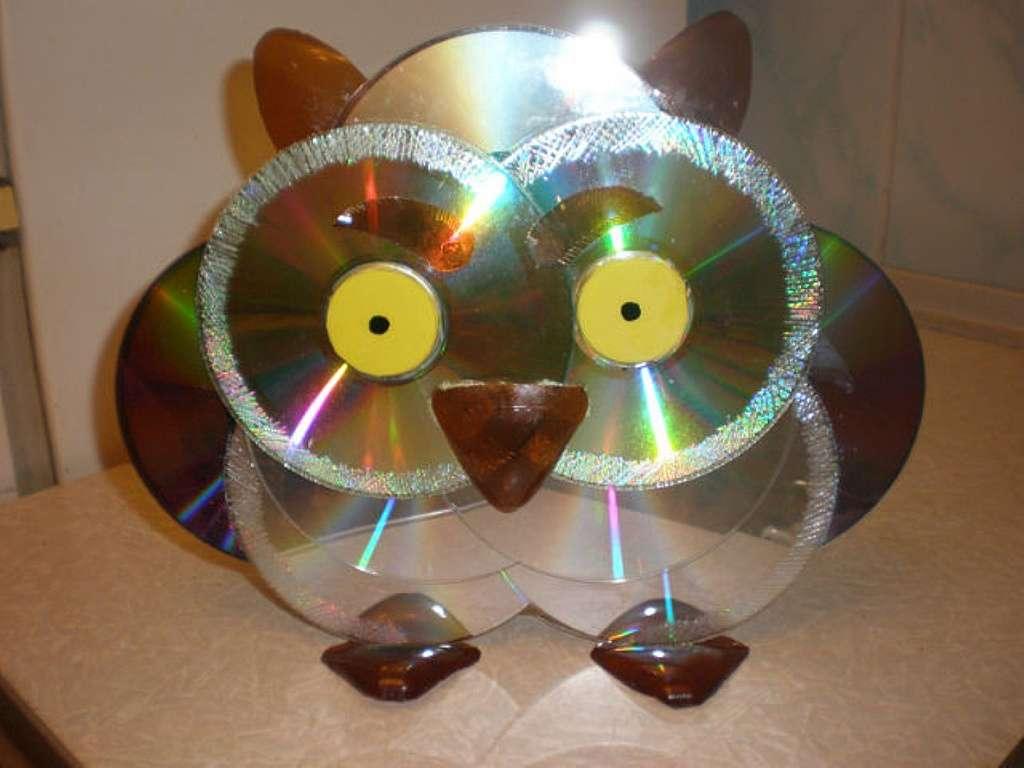 Фото поделки из дисков своими руками
