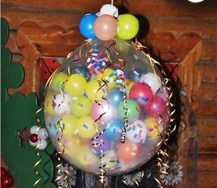 как сделать шар сюрприз из воздушных шаров