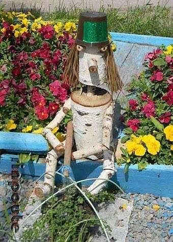 поделки для сада из дерева своими руками