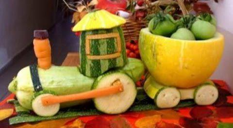 Поделки из овощей на тему осень