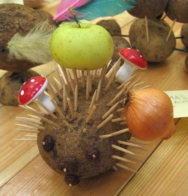 Детские поделки из овощей на тему осень фото