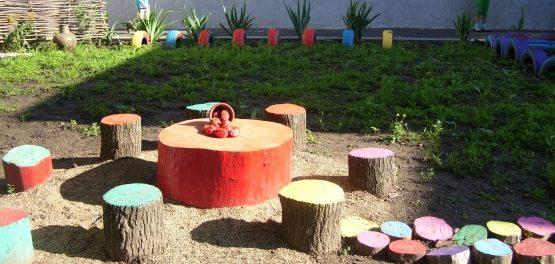 поделки из дерева для сада дачи