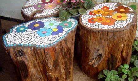 поделки из дерева для сада дачи своими руками
