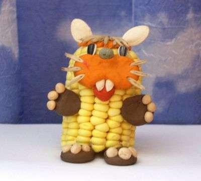 поделки из кукурузы для детского сада