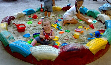 поделки из автомобильных шин для детской площадки