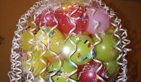 как сделать шар сюрприз из воздушных шаров дома