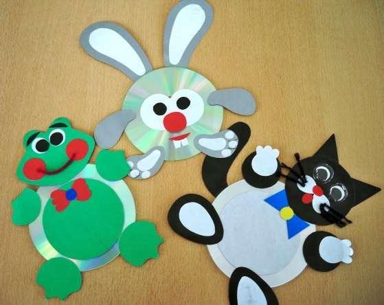Поделки из дисков в детский сад