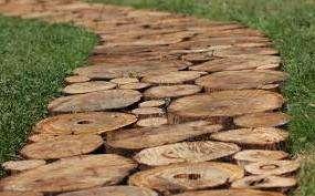 Дорожки из спилов дерева своими руками. Пошаговая инструкция, видео