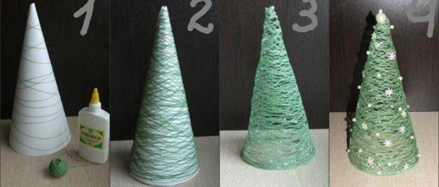 как сделать простую елку