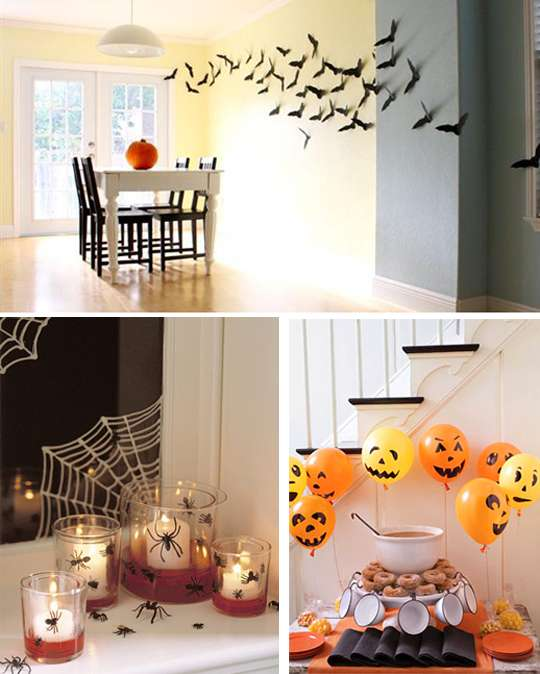 фото украшения зала на хэллоуин