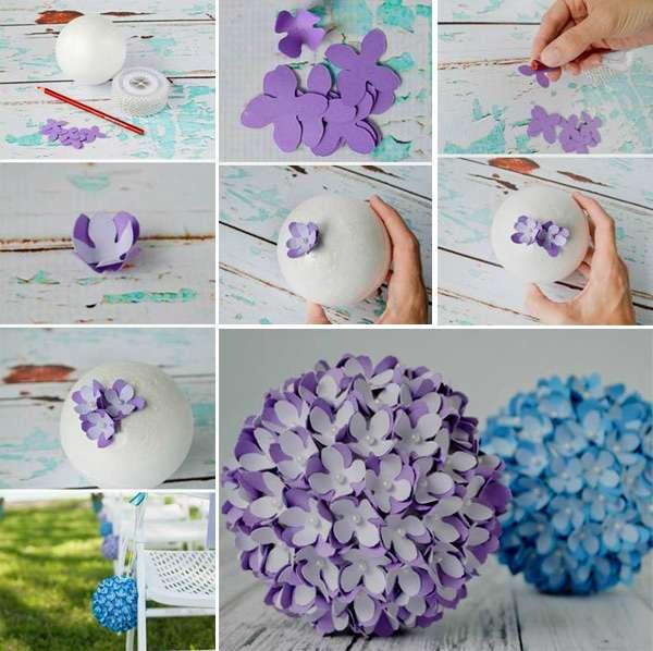 елочные шары своими руками из пенопластовых шаров