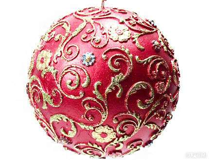 как расписать новогодний шар
