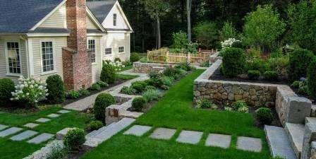 Схема разбивается на квадраты. Участок разделяется на квадраты колышком, либо сухой известью. Затем размечаются места посадки растений.