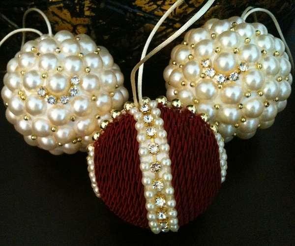 Изготовление новогодних шаров. Как сделать новогодний 28