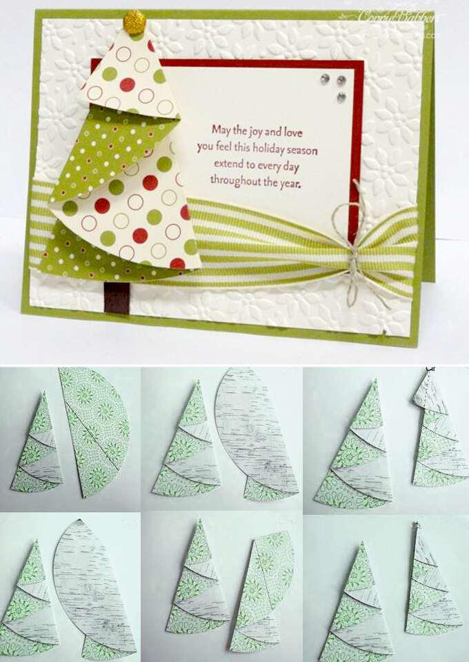 Простая открытка на новый год своими руками из бумаги, рисунки