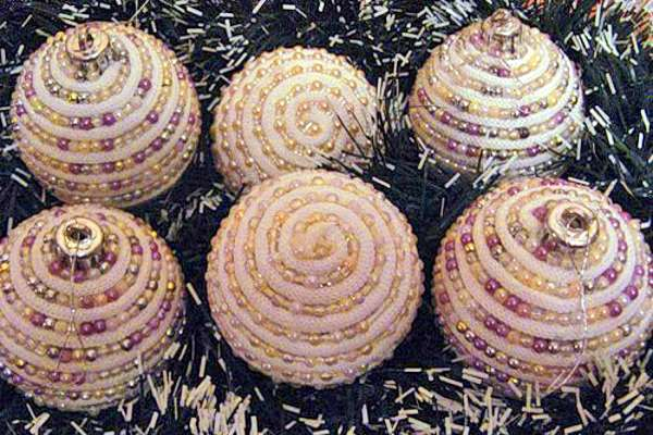 Изготовление новогодних шаров своими руками фото 947