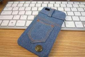 Нужен новый чехол для планшета или телефона? Пошейте его из старых джинсов по своей схеме. Достаточно измерить ширину и высоту устройства, добавить по 1 см на швы и сшить.
