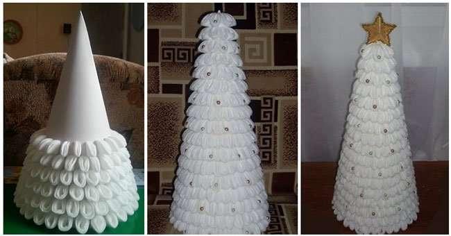 Дерево из пластиковых бутылок своими руками мастер класс фото 844