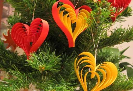 бумажные игрушки для елки