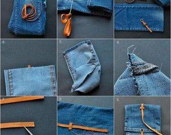 Что сшить из старых джинсов своими руками фото 48