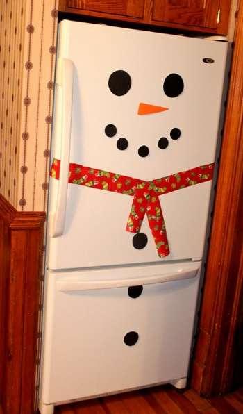 как украсить холодильник на новый год