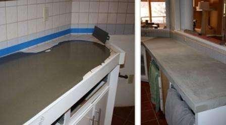 После этого полученный деревянный каркас заполняют бетонной смесью. Делать это лучше всего на вибростоле, чтобы крупный наполнитель раствора равномерно распределился. Заливку нужно проводить в два этап