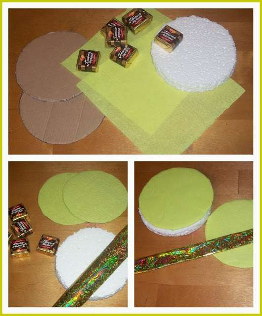 новогодние поделки из конфет своими руками фото