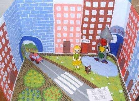 поделки правила дорожного движения для детей своими руками фото
