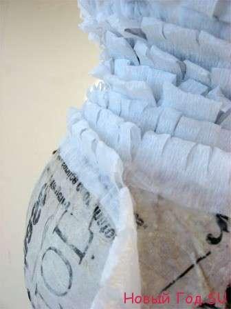 новогодние поделки из гофрированной бумаги своими руками