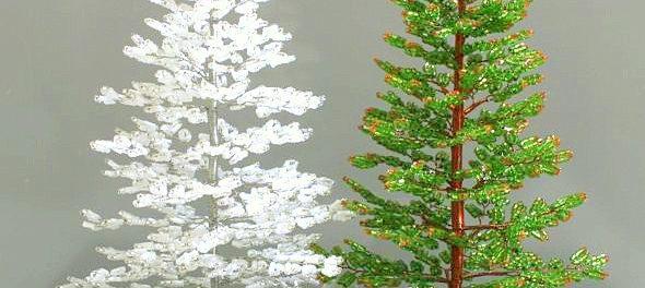 новогодние поделки из бисера мастер класс с пошаговым фото