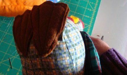 как сшить петуха из ткани
