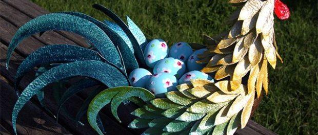Как сделать петуха из яичных лотков пошагово фото 104