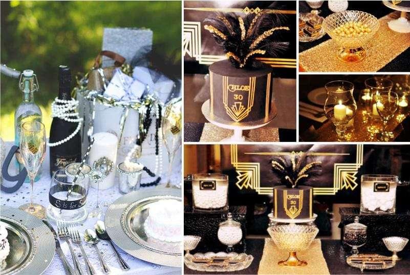 как красиво украсить стол на юбилей