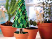 как украсить елку из пенопласта