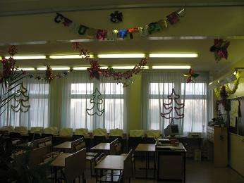 идеи как украсить класс к новому году