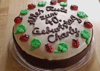 украсить торт своими руками на день рождения