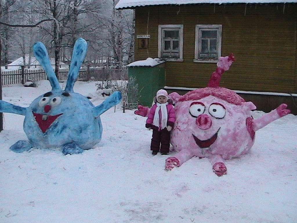 Скульптуры из снега фото своими руками