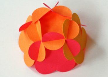 новогодние шары своими руками пошаговое из бумаги