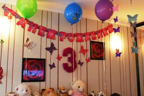 украшаем комнату на день рождения ребенка своими руками фото